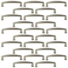 kitchen cabinet door handles walmart 25 pack of brushed satin nickel cabinet hardware square modern pull door handles