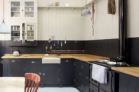 cuisine en bois gris cuisine grise et bois gris naturel lambris mural peinture anthracite