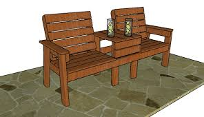 large outdoor double chair bench plans howtospecialist how to