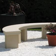 modern grand curved stone bench large garden benches s u0026s shop