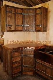 How To Build A Beautiful Rustic Pallet Cabinet Construction By - Rustic kitchen cabinet
