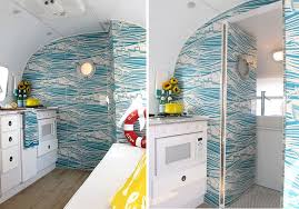 get the coastal feel with whitby wallpaper by mini moderns from