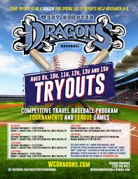 come tryout to be a dragon for the spring 2017 9u 15u tryouts
