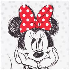 picture stretcher art print 35x35 disney minnie mouse black white red