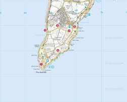 Dorset England Map by Portland Bill Print Walk South West Coast Path