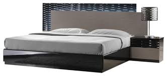 jnm roma modern black and grey lacquered bedroom set modern
