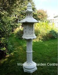 enigma marble resin pagoda lantern garden ornament woodside