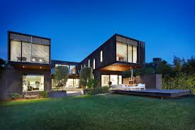 exterior contemporary japanese modern house with upper level pool