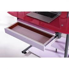 Glass Metal Computer Desk Glass Metal Computer Desk With Pull Out Keyboard Tray Free For