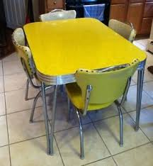 Vintage Formica Kitchen Table And Chairs by Chrome Kitchen Table And Chairs Yellow Kitchen Decor Vintage