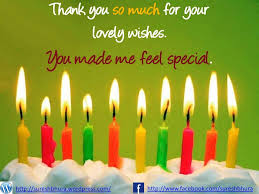 thank you for my birthday wishes thank you every one for your