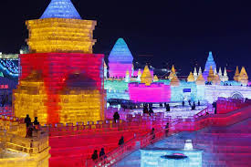 harbin snow and ice festival 2017 stunning ice sculptures glow in neon at chinese festival nbc news