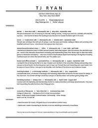sample resume of waitress sample functional resume sample waiter
