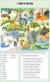 91 free esl zoo worksheets