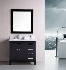 bathroom cabinets white chair on sleek floor near big window