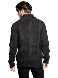 guess men u0027s men u0027s florence shawl cardigan ebay