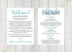 destination wedding itinerary welcome letter weekend itinerary wedding itinerary by designandpop