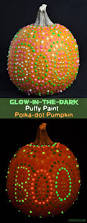 Halloween Usa Livonia Glow In The Dark Puffy Paint Pumpkin With Polkadots Halloween