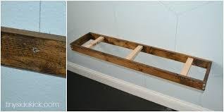 Floating Wood Shelf Plans by Diy Rustic Modern Floating Shelves Tutorial