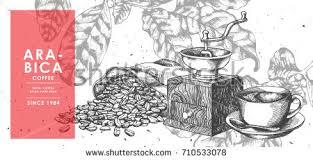 vintage coffee bean sackcloth coffee grinder stock vector