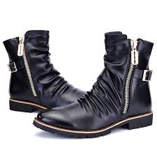 mens motorcycle ankle boots mens stylish boots yu boots