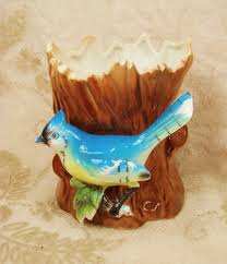 Vintage Retro Home Decor Vintage Blue Bird Planter Vase Retro Home Decor Nature Decorative