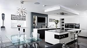 table de cuisine moderne en verre design interieur cuisine moderne tendance 2018 table plateau verre