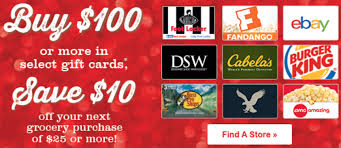 gift card offers safeway gift card offers get 10 voucher with 100 ebay cabela s