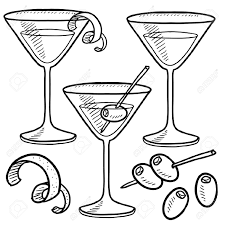 martini olive art wine line drawing google zoeken krijtborden pinterest