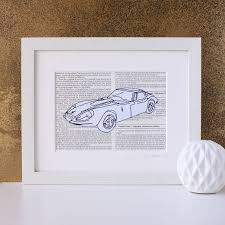 personalised favourite car embroidered artwork by zoe gibbons