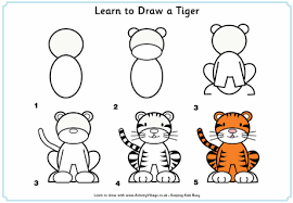 learn to draw a tiger 0 gif