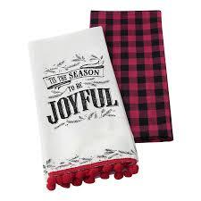 amazon com hallmark home decorative cotton kitchen tea towels