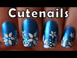 short nails tutorial cute flowers nail art design nails