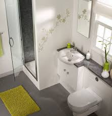 awning glass shower door design with modern bathroom rug and wall