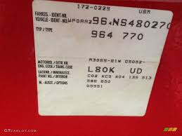 Porsche 911 Interior Color Codes 1992 911 Color Code L80k For Guards Red Photo 96510246 Gtcarlot Com