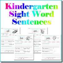 printable kindergarten sight words sight word printable worksheets confessions of a homeschooler