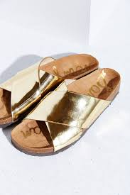 sam edelman adora liquid sandal in metallic lyst
