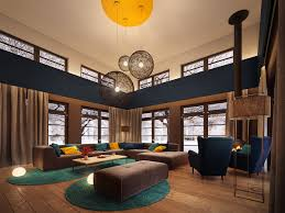 luxurious living room luxurious living room design with vaulted ceilings and u shape brown