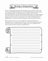 Declaration Of Independence Worksheet Answers Independence Worksheet Education Com