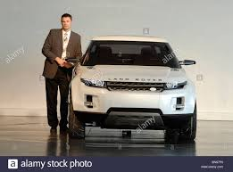 range rover concept managing director phil popham with the land rover lrx concept car