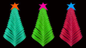how to make a simple and beautiful paper christmas tree christmas