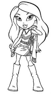 bratz coloring picture coloring pages