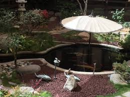 exterior pond hollywood swimming pool backyard botany garden koi