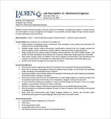 Ups Package Handler Job Description Resume Mechanical Engineering Job Description Hvac Mechanical Engineer