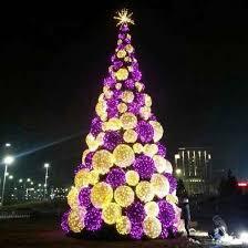 big gold and purple pre lit christmas tree yandecor