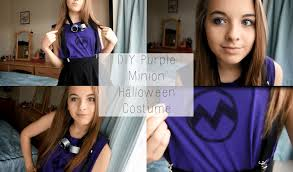 diy purple minion halloween costume eve youtube