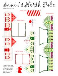 santa u0027s house paper cutouts by papertoys com