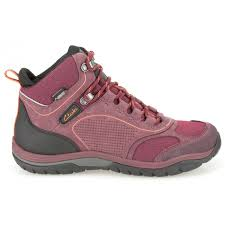 womens walking boots uk clarks womens intourroutegtx berry nubuck goretex walking boot