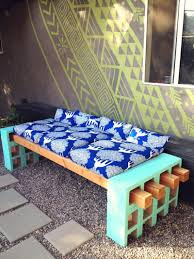 Diy Patio Furniture Cinder Blocks Cinder Block Outdoor Bench