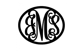 three letter monogram metal boutiques 3 letter monogram in wreath monograms let us